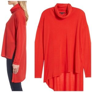 EILEEN FISHER Asymmetrical Merino Wool Lava Top